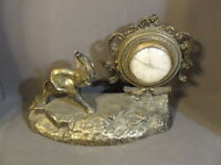 VINTAGE BRASS ELEPHANT CLOCK MANTLE DECOR FOR REPAIR