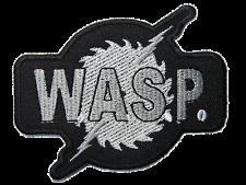 W.A.S.P Wasp Heavy Metal Embroidered Iron On Sew On Jacket Patch 3.6""