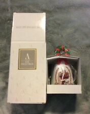 1995 Avon Holiday Bell Handpainted handle of a Christmas Wreath