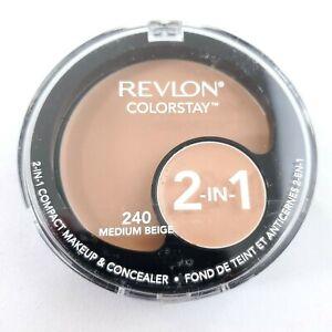 Revlon Colorstay 2-in-1 Compact Makeup & Concealer 240 Medium Beige