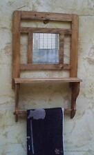 toallero con espejo y balda, mueble rustico