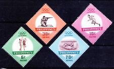 Philippines 1960 MNH 4v, Odd Shape, Sports, Rome Olympics