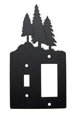Tree Trees Single Switch Single Rocker Cover Plate Black