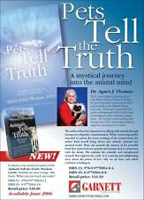 Pets Tell The Truth Book Pet Animal Psychic