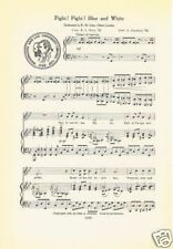 WASHINGTON AND LEE UNIVERSITY Fight Song Sheet w/ School Seal c1937 - Original