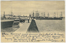 Russia, Taganrog, Harbour Scene with Ships, old postcard 1905