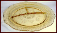 Depression Glass Federal Patrician Amber Grill Plate Excellent Divided Dish