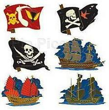 Disney POC 6 Pin Pirate Flag Set and Ship Pins LE 100