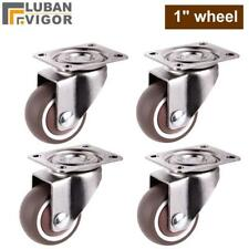 TPE Caster Wheels Set Rubber 25mm Spare 4Pcs Mounted Replacement Small