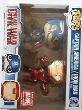 Captain America/Iron Man 2 Pack Marvel Collector Corps Funko Pop Civil War