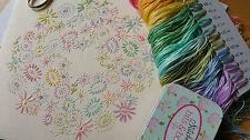 Kit de bordado para principiantes: principiante Flores Pastel: Hermoso Kits By Maggie Gee