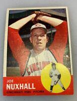 1963 Topps # 194 Joe Nuxhall Baseball Card Cincinnati Reds