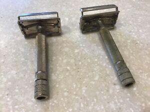 Lot of 2 Vintage Gillette Razors