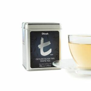 Dilmah Ceylon Silver Tips In Caddy / White Tea in Loose Leaf  Form t Series