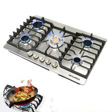 "Cook Top 30"" Stainless Steel Built-in 5 Burners Stove LPG/NG Gas Hob Cooktops"