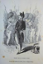 Caricature Humour GRANDVILLE Jérome Paturot REYBAUD Revue de Napoléon Paturot