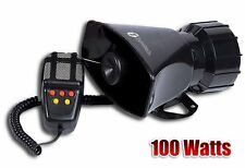 Zone Tech 100W 12V Car  Alarm Police Fire Loud Speaker PA Siren Horn MIC System