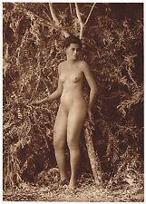 1920s Original Vintage Samoan Islander Female Risque Photo Gravure Print