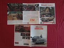 N°8996 /  GMC automobile Caballero dépliant USA et dépliant en français Canada