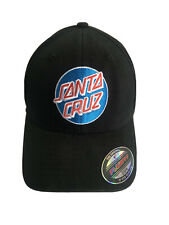 Santa Cruz Cap BNWT Black Patch Logo Cotton Baseball Flexfit One Size Skateboard