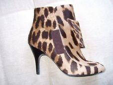 New Lanvin leopard print calf hair ankle boots 37 UK4 US7