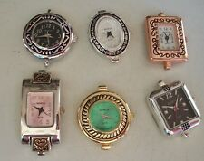 WOMEN'S SET OF 6 ASSORTED WATCH FACES FOR BEADING OR OTHER USE