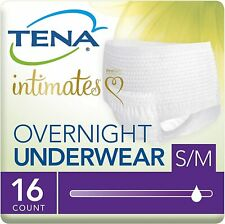 Tena Incontinence Underwear For Women, For Overnight, Medium, 16 Count SMALL