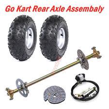 Go Kart Rear Axle Assembly Brake Cyclinder Wheels w Rim Atv Quad Buggy 50Cc-90Cc