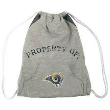 Property of Los Angles Rams Logo NFL Hoodie Cinch Sack Drawstring Bag Backpack