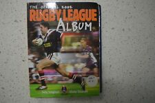 FULL SET OF NRL 2002 RUGBY LEAGUE COLLECTOR CARDS + ALBUM! ROOSTERS BRONCOS