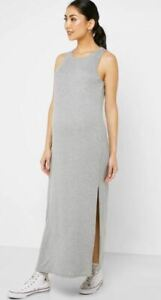 Ex TOPSHOP Maternity Grey Side Split Dress   (TS98-2)