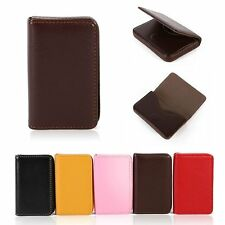 Women PU Leather Pocket Business ID Credit Card Holder Case Wallet for Card Box