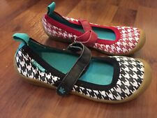 Girls Size 3 Chooze Mismatch Mary Janes Shoes Black Red White Check
