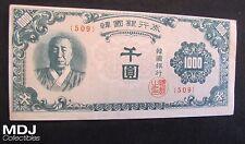 1950 Korea 1000 Won Note
