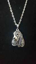 "English Springer Spaniel Dog Necklace 18"""