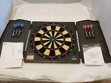 Xenon Electronic Premium Bristle Dartboard Cabinet 6 Steel Tip Dart Board Game