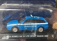 """DIE CAST """" ALFA ROMEO 156 2.4 JTD SPORT WAGON - 2001 """" POLIZIA SCALA 1/43"""
