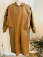 Rainshedder Vintage Men's Size Xxl Brown Zip Out Lining Snap Front Trench Coat