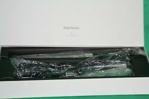 new wedgewood vera wang cake knife & severe set with black enamel handles stainl