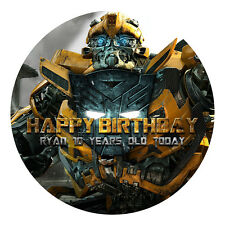 TRANSFORMERS PERSONALISED EDIBLE ICING IMAGE PARTY CAKE TOPPER ROUND