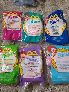 1999 Mcdonalds Barbie Happy Meal Toys SET OF 7 Unopened Rare! 2013 Pink Shoes #1
