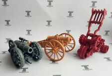 Set of 3 Cannons Fantasy Model kit Artillery Gun 54 mm scale 1/32 28 mm Tehnolog