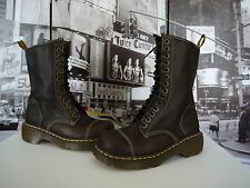 DR.MARTEN'S MIRANDA LEATHER 14 EYE ZIP BOOT DARK BROWN US 6 / UK 4 EU 37 WOW!!