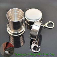 Travel Stainless Steel Telescopic Collapsible Shot Glass Emergency Pocket Cup