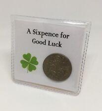 🍀 Good Luck Lucky Sixpence Keepsake