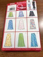 Butterick Pattern Uncut #5431 Miss Sz 12-14-16 Set of Skirt Length Choices