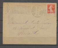 1913 Lettre ESSAI CHAMBON, LE MANS/SARTHE obl. N°138, SUP X3876
