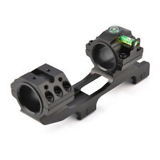 25.4mm 30mm Dual Ring Cantilever Heavy Duty Scope Mount w/ Bubble Level Compass