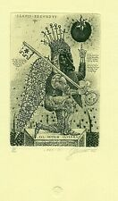 Exlibris Etching  Bookmark:  Denisenko