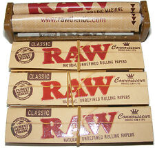 PLASTIC KING SIZE RAW CIGARETTE TOBACCO ROLLING ROLLER MACHINE & PAPERS & TIPS